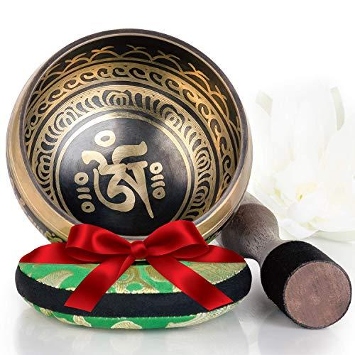 Silent Mind ~ Tibetan Singing Bowl Set ~ Balance & Harmony Design ~ With Dual Surface Mallet ...