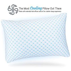 Nestl Bedding Heat and Moisture Reducing Ice Silk and Gel Infused Memory Foam Pillow – Que ...