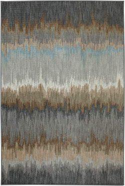 Karastan Euphoria Cashel Woven Rug, 5'3×7'10, Abyss Blue
