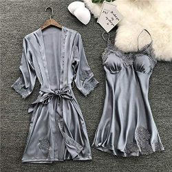 Women Lingerie,WensLTD Sexy Lingerie Women Silk Lace Robe Dress Babydoll Nightdress Sleepwear Ki ...