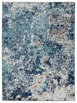 Persian Rugs 6490 Blue 4 x 5 Abstract Modern Area Rug