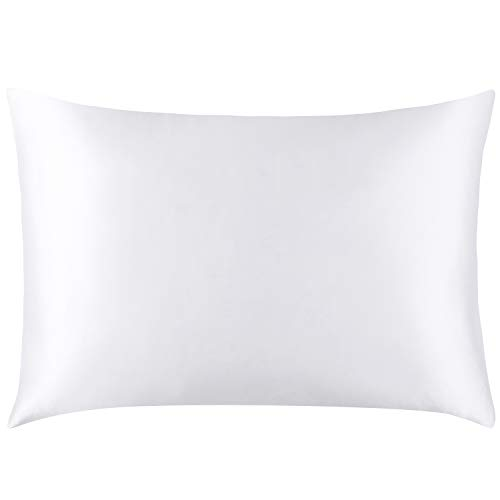 Mellanni Silk Pillowcase Queen – 19 Momme 100% Pure Natural Mulberry Silk Pillow Case for  ...