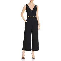 Tory Burch Womens Fremont Wide-Leg Embellished Jumpsuit