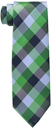 Tommy Hilfiger Men's Buffalo Tartan Tie, Green, One Size