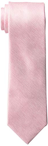 Perry Ellis Men's Dolby Solid Tie, Pink, One Size