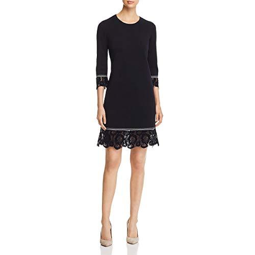 Tory Burch Womens Coralie Merino Wool Lace Trim Wear to Work Dress
