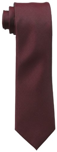 Kenneth Cole REACTION Men's Solid Tie, Burgundy, One Size
