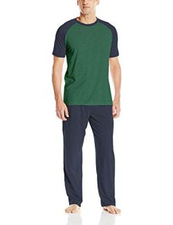 Hanes Men's Adult X-Temp Short Sleeve Cotton Raglan Shirt and Pants Pajamas Pjs Sleepwear  ...