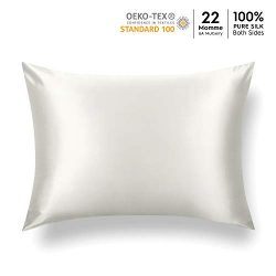 Tafts 22mm 100% Pure Mulberry Silk Pillowcase for Hair and Skin, Hypoallergenic, Both Sides Grad ...