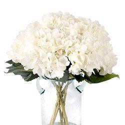 Kimura's Cabin Artificial Silk Hydrangea Flower,3Pcs Hydrangea Flowers Bouquet Home Weddi ...