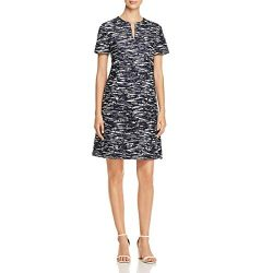 Tory Burch Womens Dina Space Dye Short Sleeve Wear to Work Dress