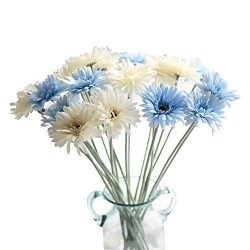 KIRIFLY Artificial Flowers,Fake Silk Sunflowers Bulk Flowers 22″ Tall Wedding Decoration R ...