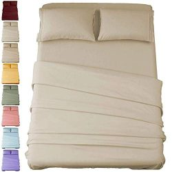 Sonoro Kate Bed Sheet Set Super Soft Microfiber 1800 Thread Count Luxury Egyptian Sheets 16-Inch ...