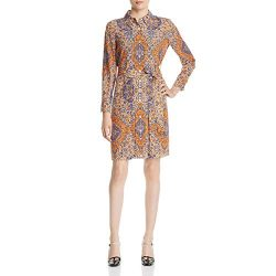 Tory Burch Womens Soiree Paisley Office Wear Shirtdress