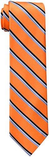 Tommy Hilfiger Men's Stripe Tie, Orange, One Size
