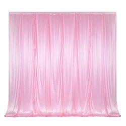 10 ft x 10 ft Polyester Photography Backdrop Drapes Curtains Panels for Wedding Decorations Birt ...