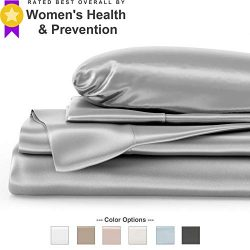 Mulberry Park Silks – King Silk Sheet Set (15″ Pocket) – Silver – 22 Mom ...