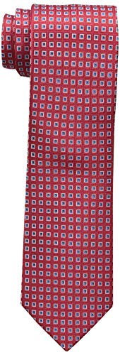 Nautica Men's Flare Neat Tie, Red, One Size