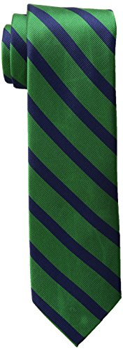 Tommy Hilfiger Men's Slide Stripe Tie, Green, One Size