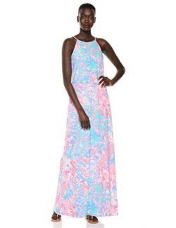 Lilly Pulitzer Women's Margot Maxi Dress, Blue peri Viva La Lilly, S