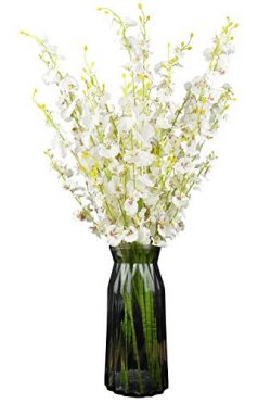 Silk Flowers in Bulk Wholesale Artificial Orchids, 11 Pcs (Each 28″), for Wedding Festive  ...