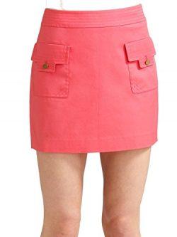 Tory Burch Stretch Cotton Twill Perer Skirt, Lipstick Pink – Size 10
