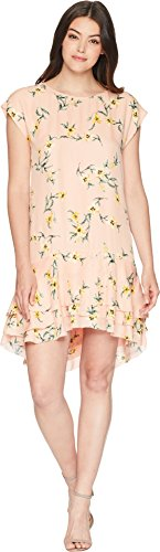 Joie Women's Coreen Silk Short Sleeve Dress, Blush Sand, m