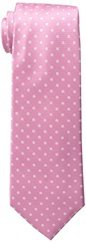 Tommy Hilfiger Men's Dot Print Tie, Pink, One Size