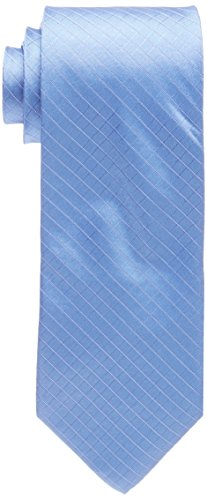 Calvin Klein Men's Etched Windowpane A Tie, Slate, Regular