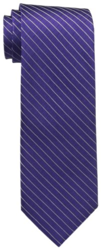 Calvin Klein Men's Etched Windowpane A Tie, Purple, Regular