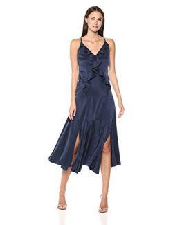 Rebecca Taylor Women's Sleeveless Silk Tank Dress, Navy, 4