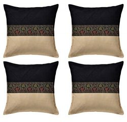 ANJANIYA Pack of 4 Boho Cushion Covers Indian Ethnic Bohemian Throw Pillow Cases Shells for Sofa ...