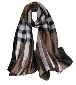 FM Womens Mulberry Silk Scarves Long Satin Lightweight Scarf For Women (C-3)