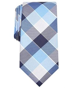 Nautica Men's Waves Plaid, Silver, One Size