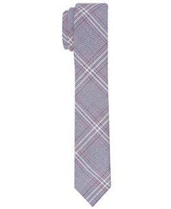 Original Penguin Men's Master Plaid Tie, charcoal, Regular