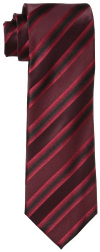 Kenneth Cole REACTION Men's Tony Stripe Tie, Red, One Size