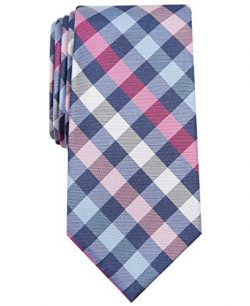 Nautica Men's Waves Plaid, Pink, One Size