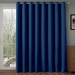 Rose Home Fashion RHF Function Curtain-Wide Thermal Blackout Patio Door Curtain Panel, Sliding D ...