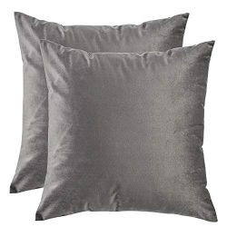 Artcest Set of 2, Cozy Solid Velvet Throw Pillow Case Decorative Couch Cushion Cover Soft Sofa E ...