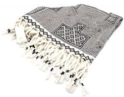 Tory Burch Triangle Novelty Scarf (Black/White)
