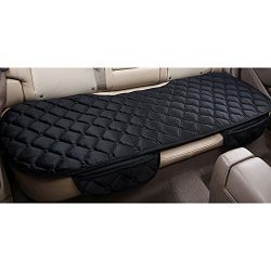 Sedeta Silk Velvet Auto Car Vehicle Long Rear Seat Chair Cover Protective Cushion Mat pad for ba ...