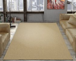 Silk Road Concepts Collection Solid Rugs, 5'3″ x 7'3″, Cream