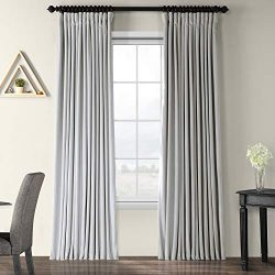 HPD HALF PRICE DRAPES VPCH-VET160401-84 Signature Doublewide Blackout Velvet Curtain, 100 X 84,  ...