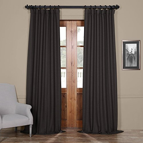 HPD HALF PRICE DRAPES BOCH-PL1703-96 Bellino Blackout Room Darkening Curtain, 50 X 96, Smoked Tr ...