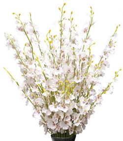 Silk Flowers in Bulk Wholesale Artificial Orchids, 12 Pcs (Each 38.5″), for Wedding Festiv ...