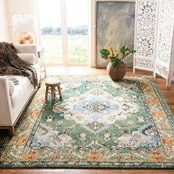 Safavieh Monaco Collection MNC243F Bohemian Chic Medallion Distressed Area Rug, 9′ x 12 ...