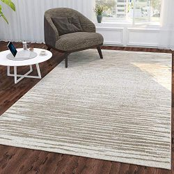 Silk Road Concepts Collection Striped Rugs, 5'3″ x 7'3″, Beige