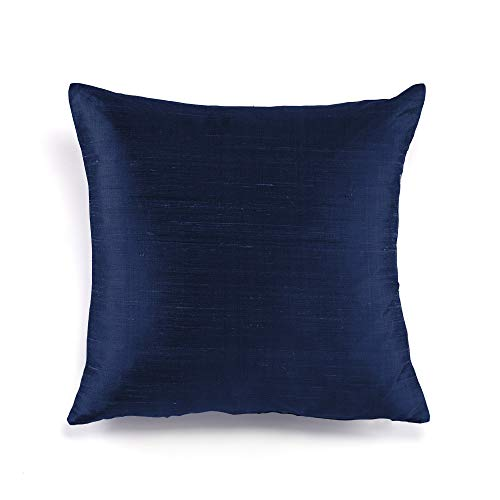 FABRICART Silk Allure Collection : Dupioni raw Silk Cushion Covers | Pillow Shams | Lumbar Cover ...