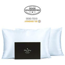 Fishers Finery 30mm 100% Pure Mulberry Silk Pillowcase Set Good Housekeeping Quality Tested (Lt  ...