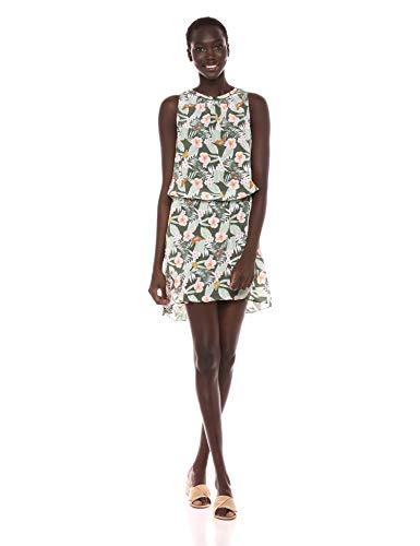 Joie Women's Sabera Silk Short Dress, Moss, s